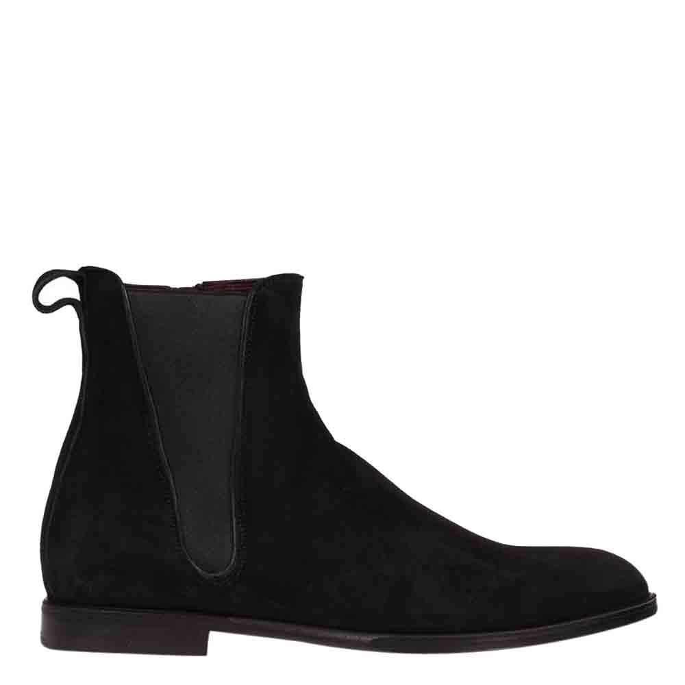 Dolce & Gabbana Black Suede Chelsea Boots Size EU 40