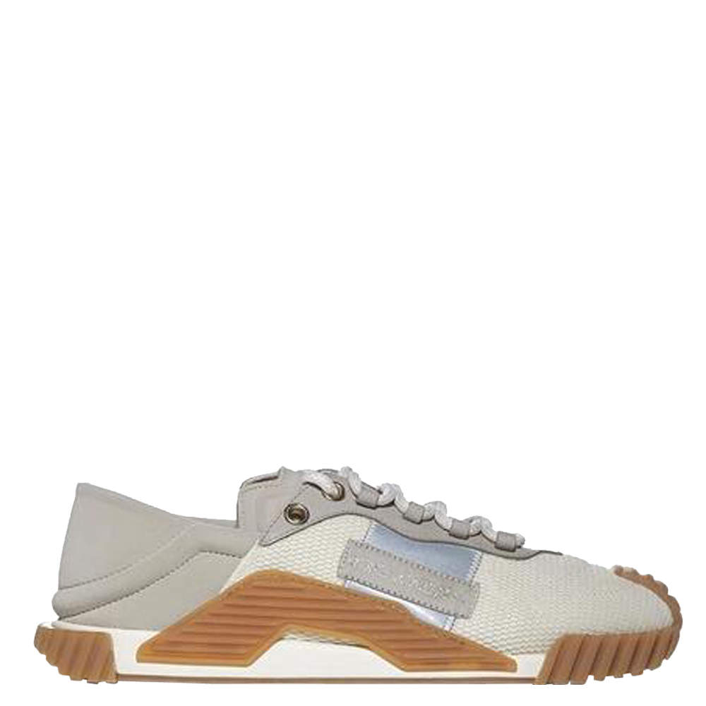 Dolce & Gabbana Beige Mixed-Material NS1 Slip-On Sneakers Size EU 40