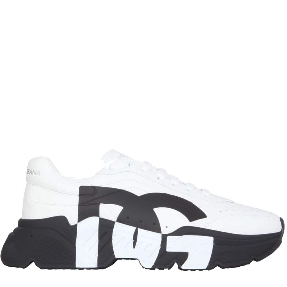 Dolce & Gabbana Black/White Daymaster Leather Sneakers Size IT 41