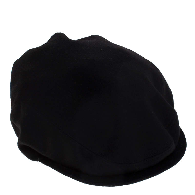 Dolce & Gabbana Black Cotton Blend Flat Cap Size 59