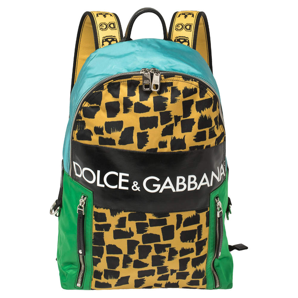 Dolce & Gabbana Multicolor Nylon and Coated Canvas Backpack