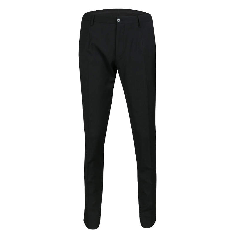Dolce & Gabbana Black Wool Tailored Trousers L