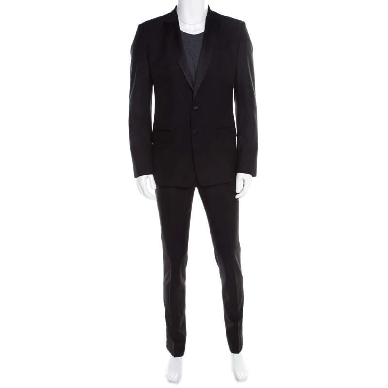 Dolce & Gabbana Maritini Black Wool and Silk Tuxedo Suit M