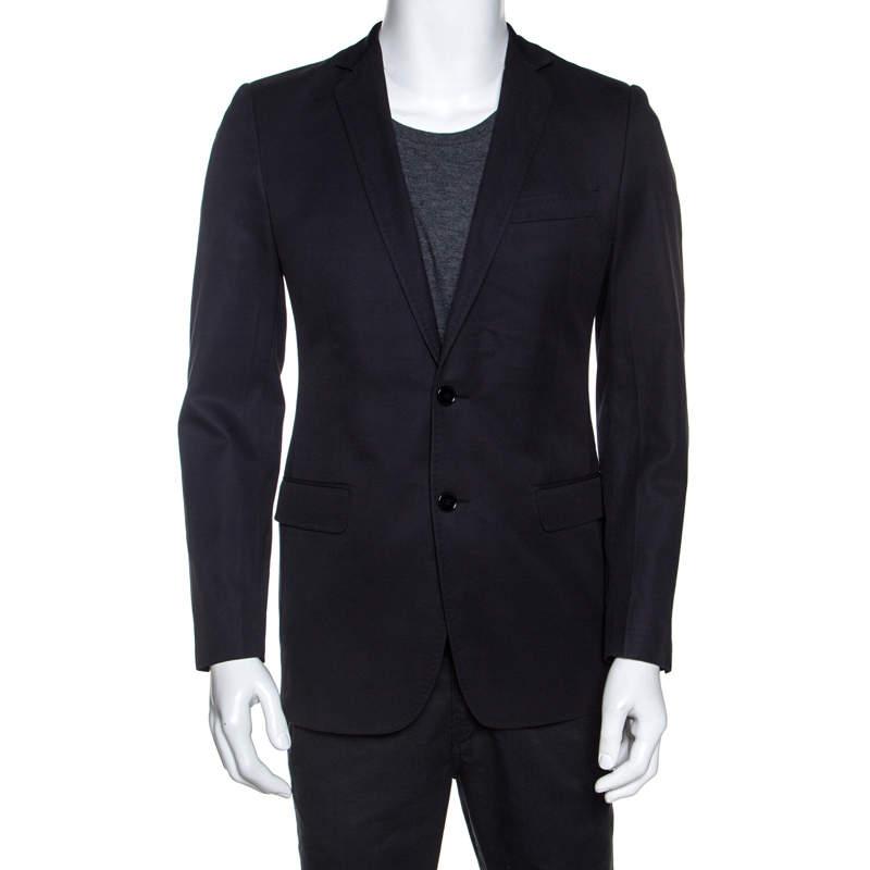 Dolce & Gabbana Black Cotton Two Buttoned Blazer S