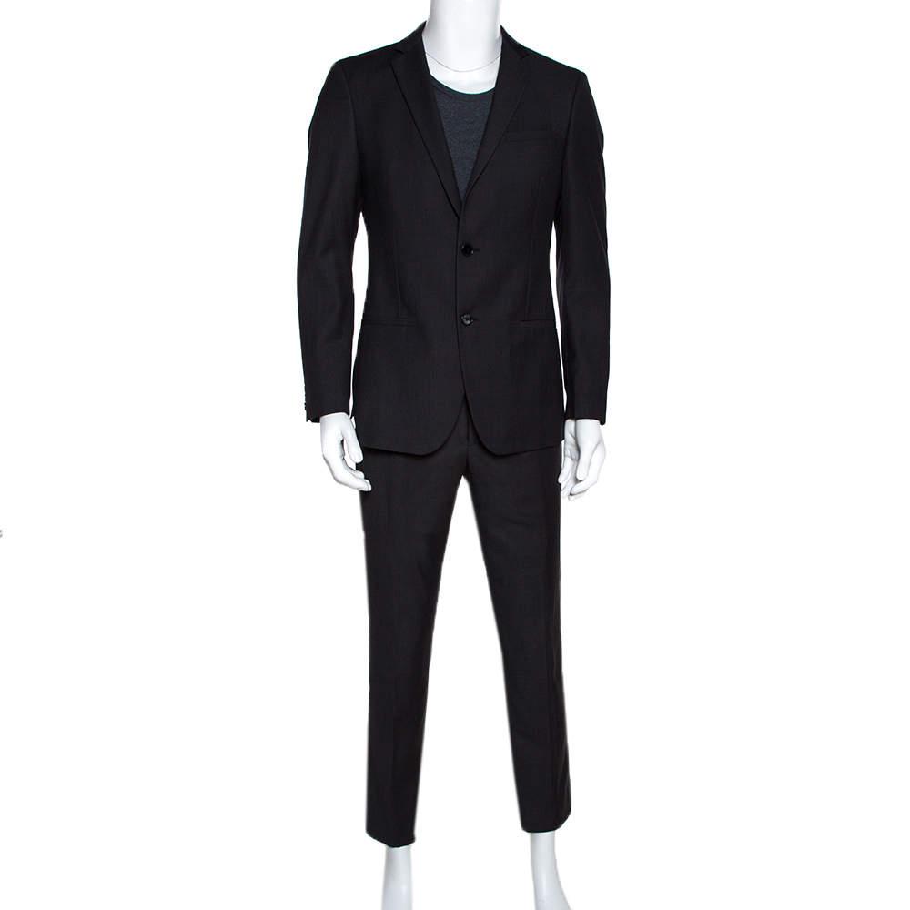 Dolce & Gabbana Black Striped Regular Fit Suit M