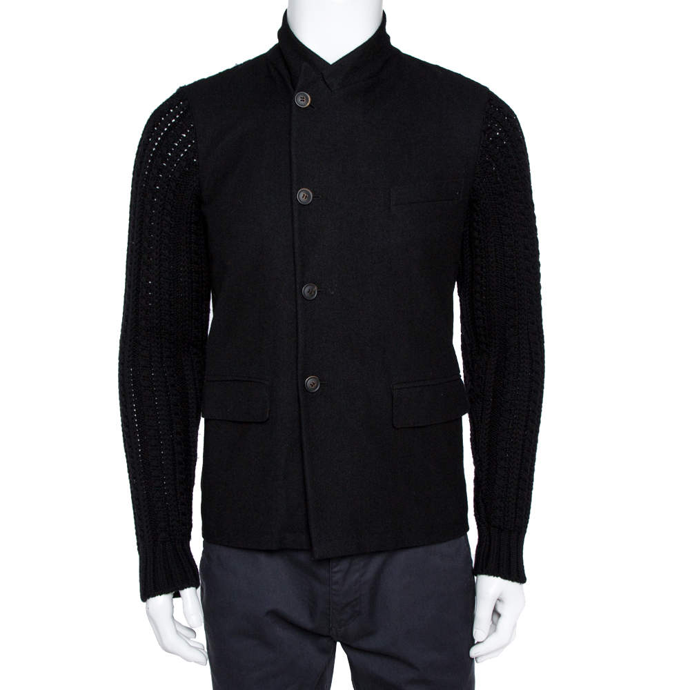 Dolce & Gabbana Black Double Breasted Wool Coat M