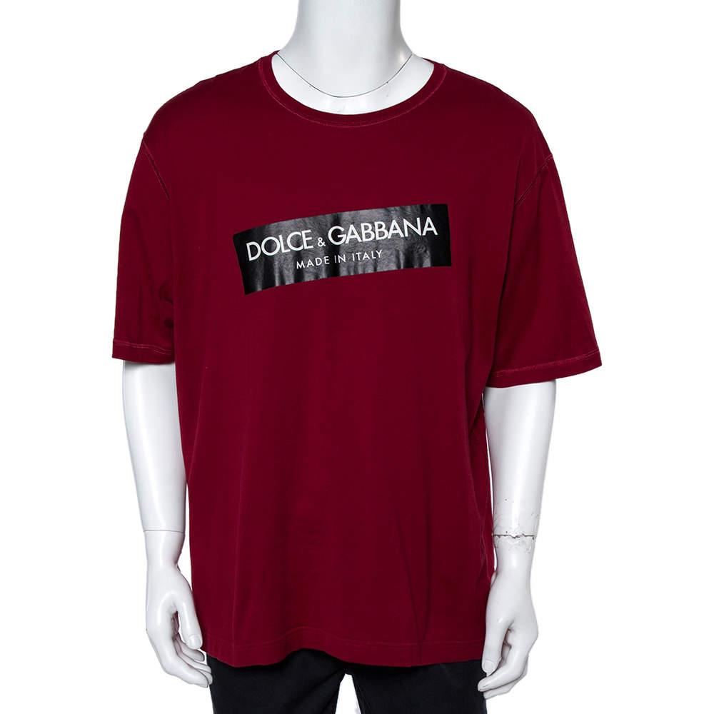 Dolce & Gabbana Red Cotton T-Shirt 4XL