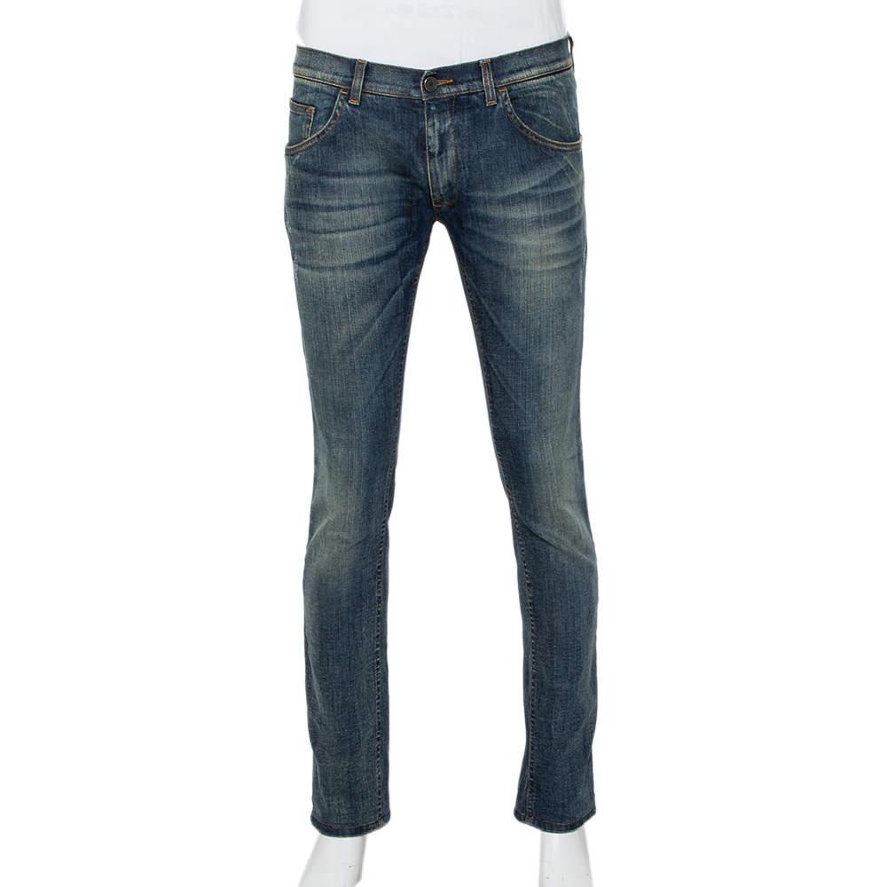 Dolce & Gabbana Blue Light Wash Denim Distressed Jeans M
