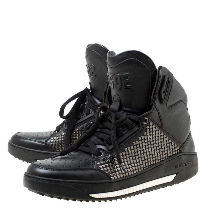 Dsquared2 Black Studded Leather High