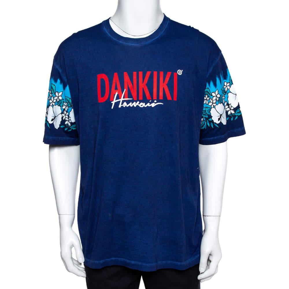 Dsquared2 Blue Dankiki Print Hetero Guy Fit T-Shirt XXL