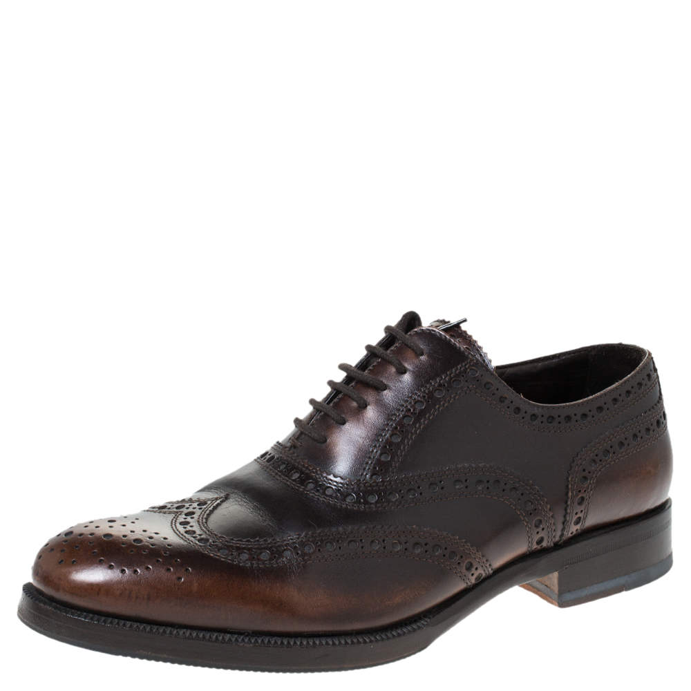 Dsquared2 Brown Brogue Leather Lace Up Oxfords Size 40