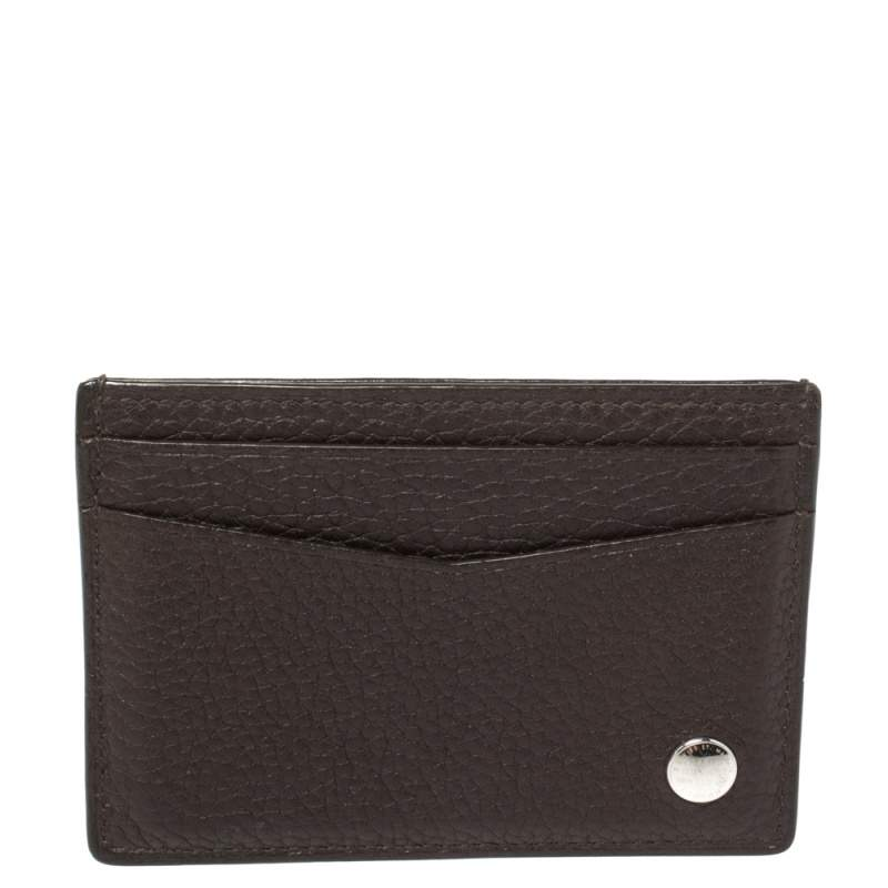 Dunhill Dark Brown Leather Card Holder