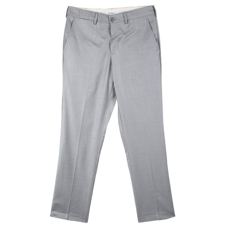 Emporio Armani Grey Wool Josh Line Tailored Trousers M
