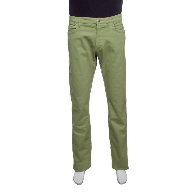 Etro Green Denim Straight Fit Jeans XXL