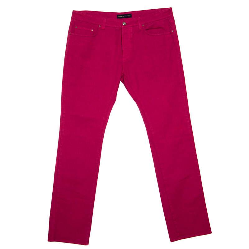 Etro Red Straight Fit Denim Jeans XXL