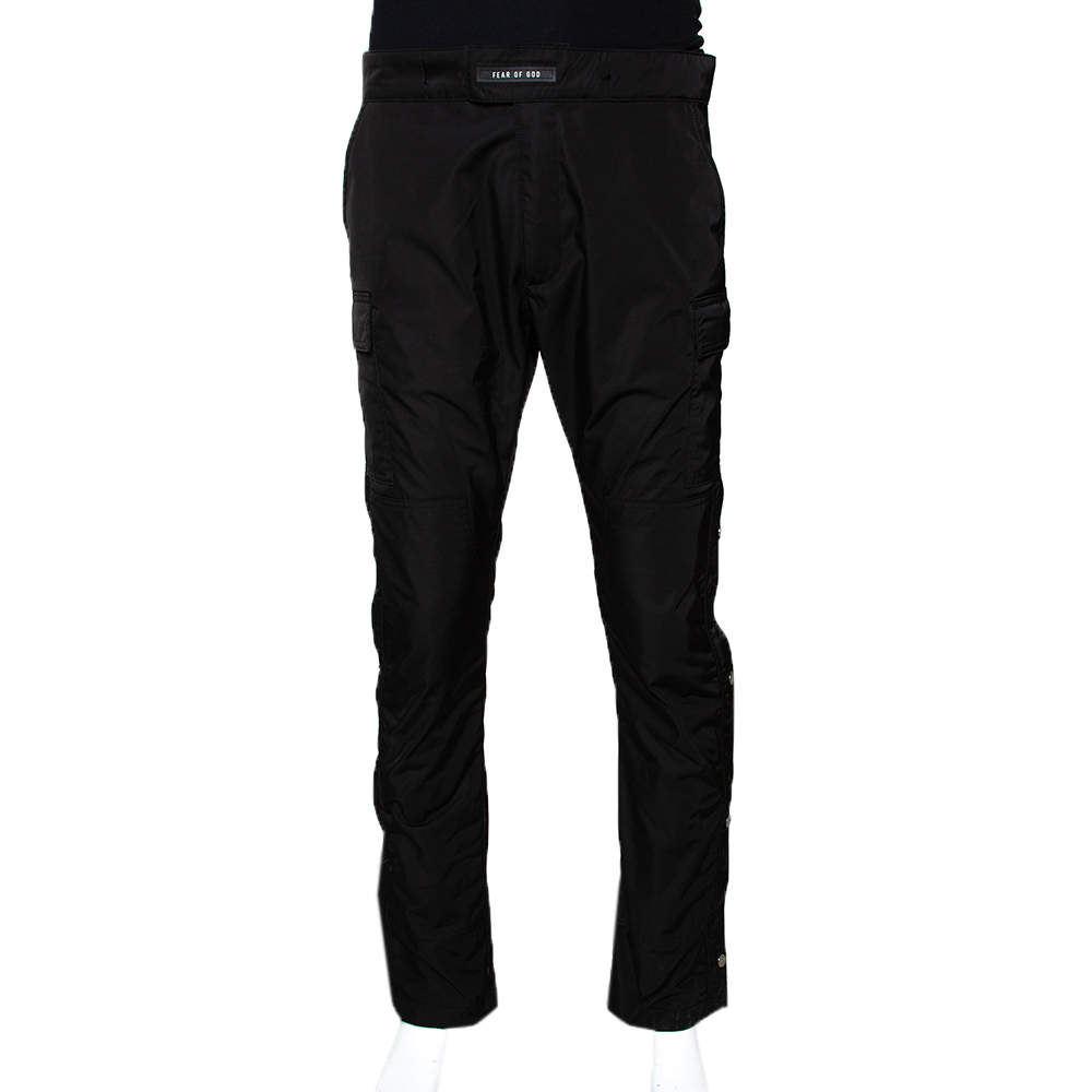 Fear of God Sixth Collection Black Synthetic Cargo Pants M