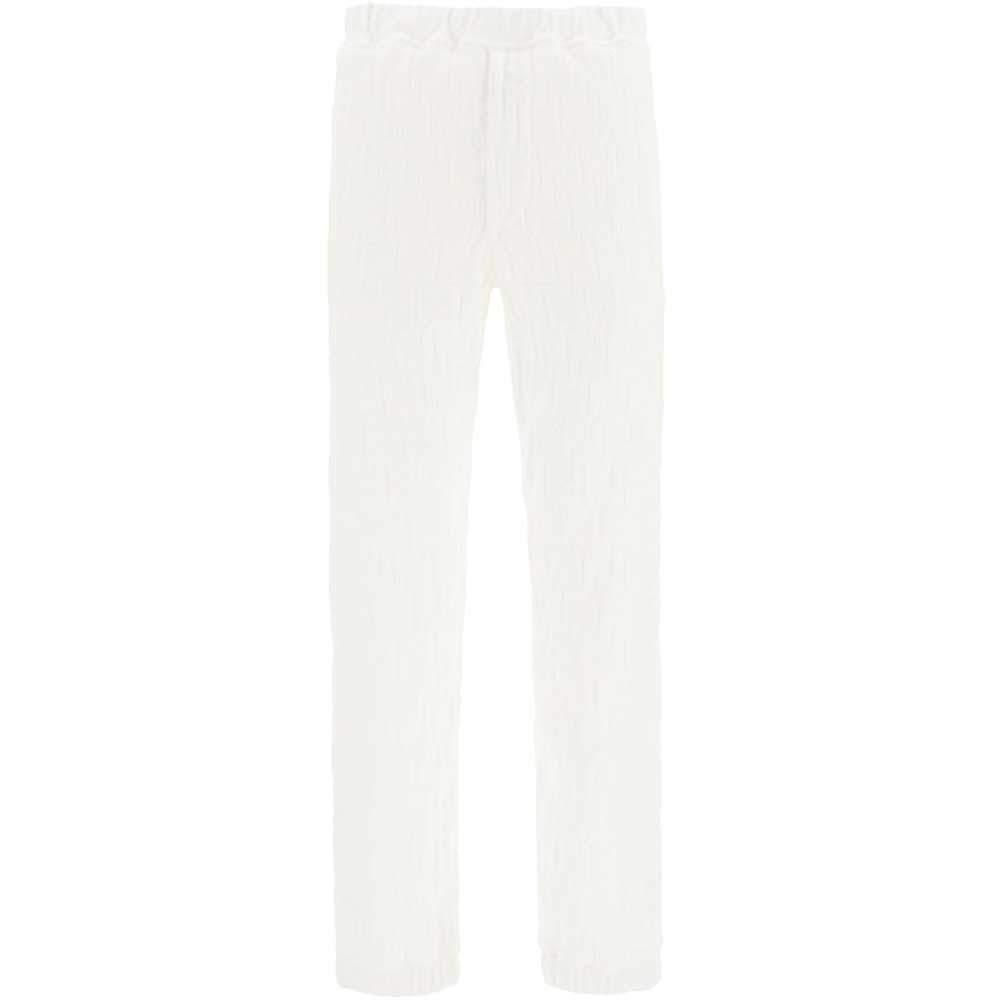 Fendi White All Over FF Padded Jogger Pants Size EU 52