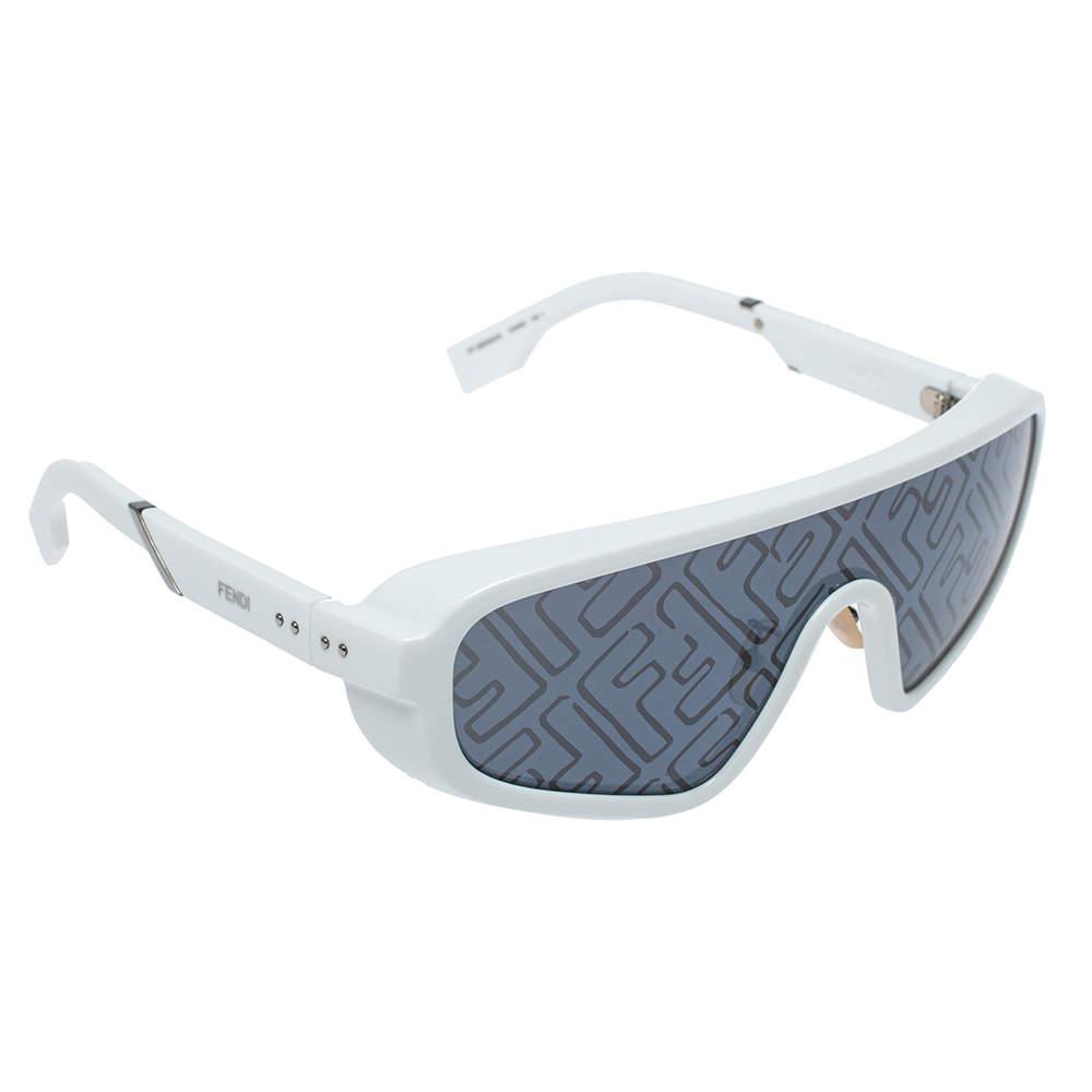 Fendi x Joshua Vides White/ Grey FF M0084/S Botanical Shield Sunglasses