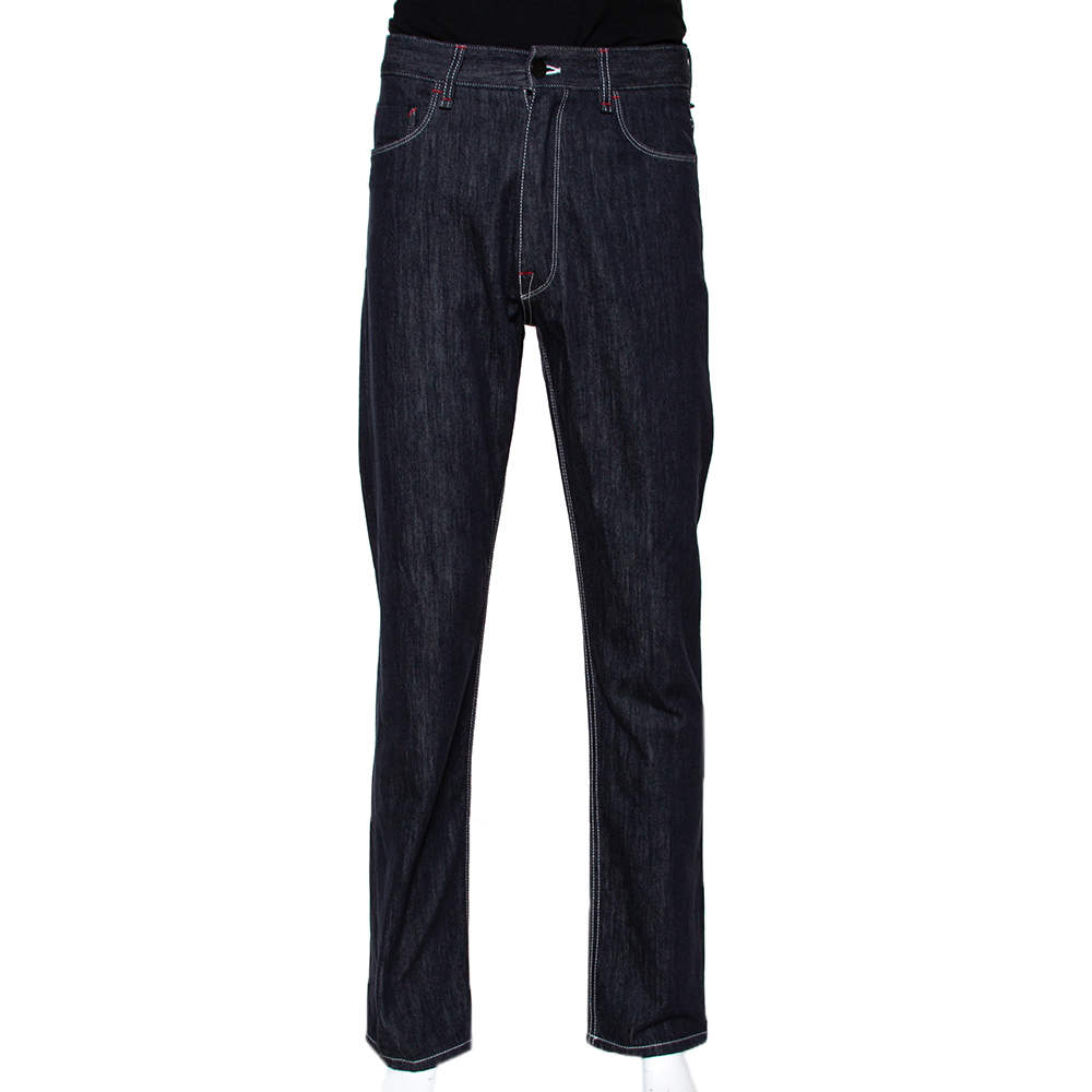 Fendi X Fila Logo Mania Indigo Denim Straight Fit Jeans M