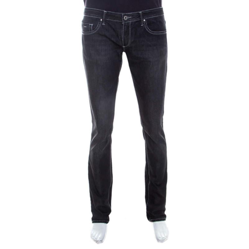 Gianfranco Ferre Black Denim Straight Fit Jeans XL