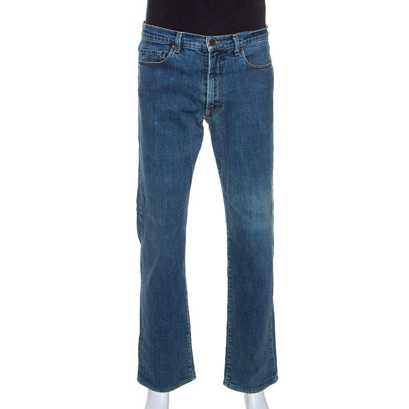 Gianfranco Ferre Blue Denim Straight Leg Jeans L