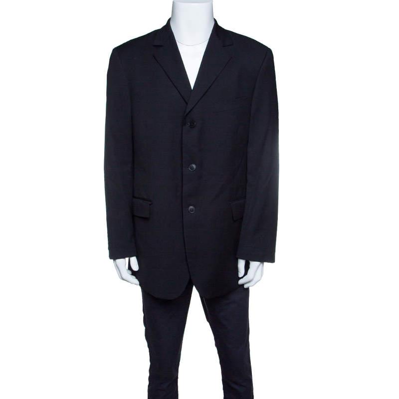 Givenchy Black Wool Tailored Blazer XXL
