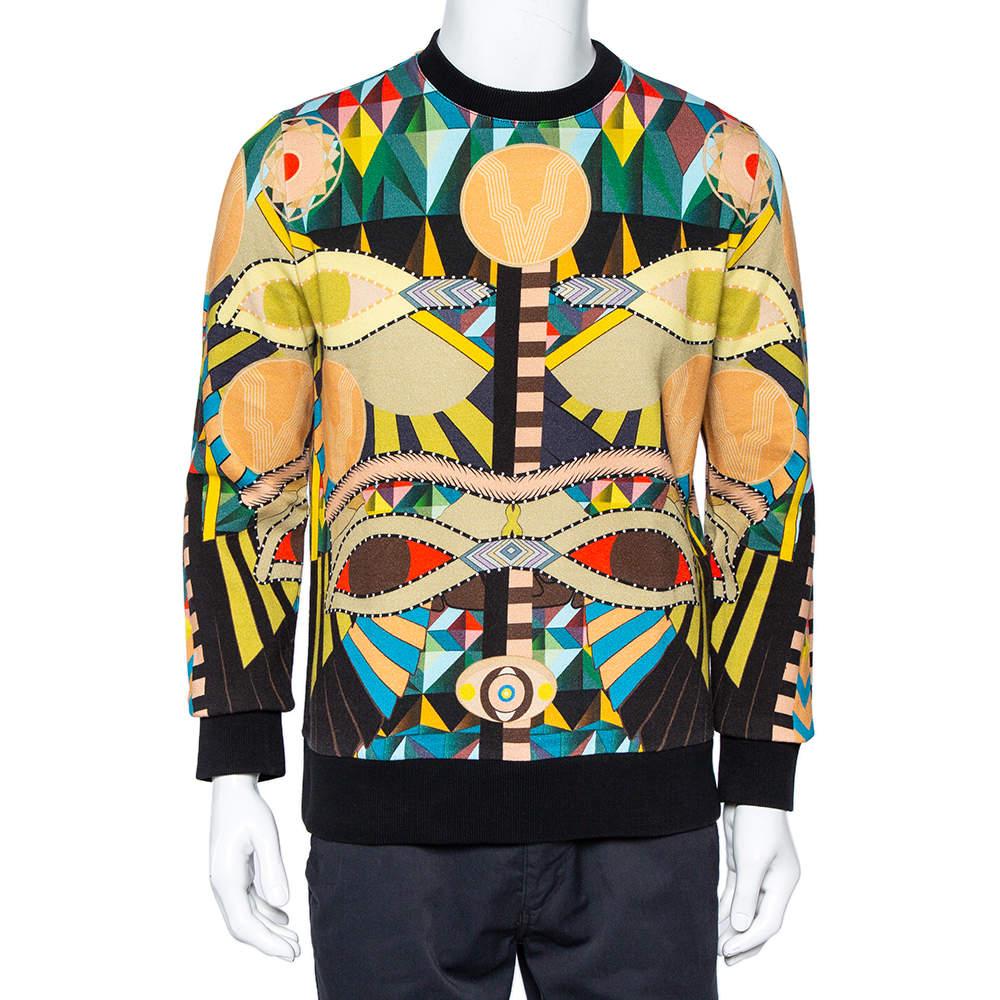 Givenchy Multicolor Abstract Printed Cotton Crewneck Sweatshirt M