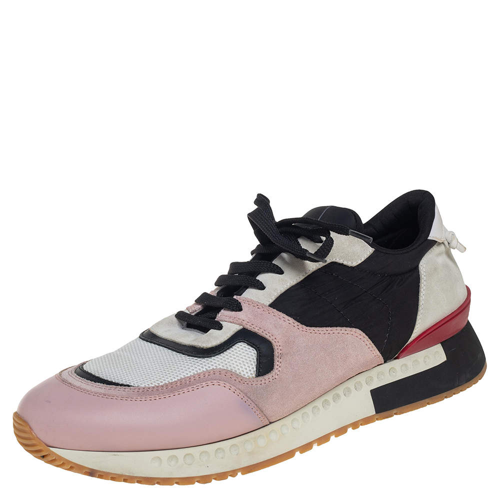 Givenchy Multicolor Suede, Leather And Mesh Lace Up Sneakers Size 43