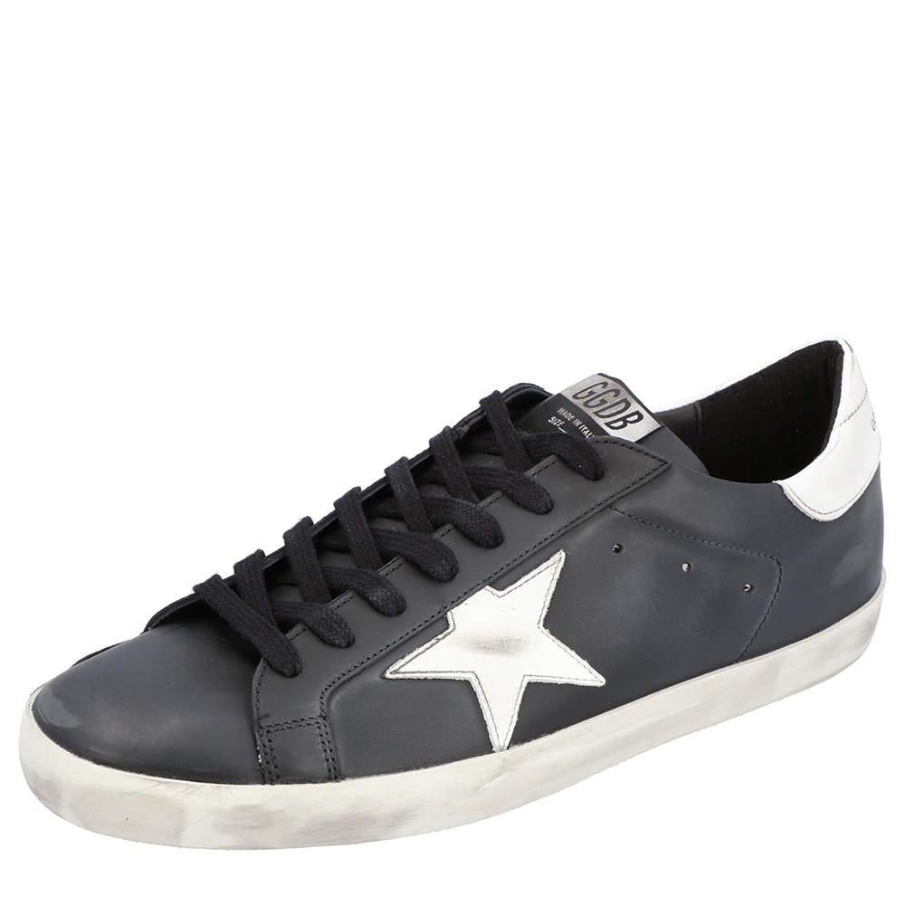 Golden Goose Black Superstar Classic Sneakers Size 42