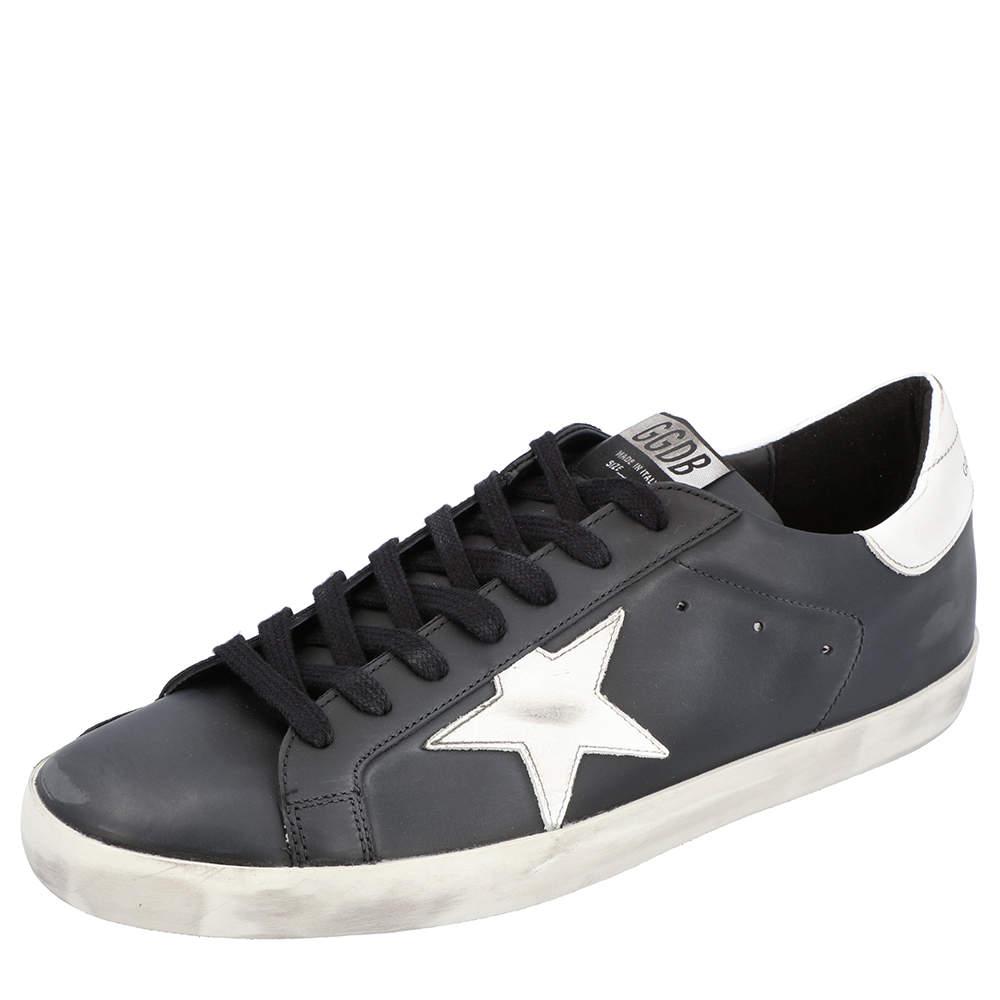 Golden Goose Black Superstar Classic Sneakers Size 44