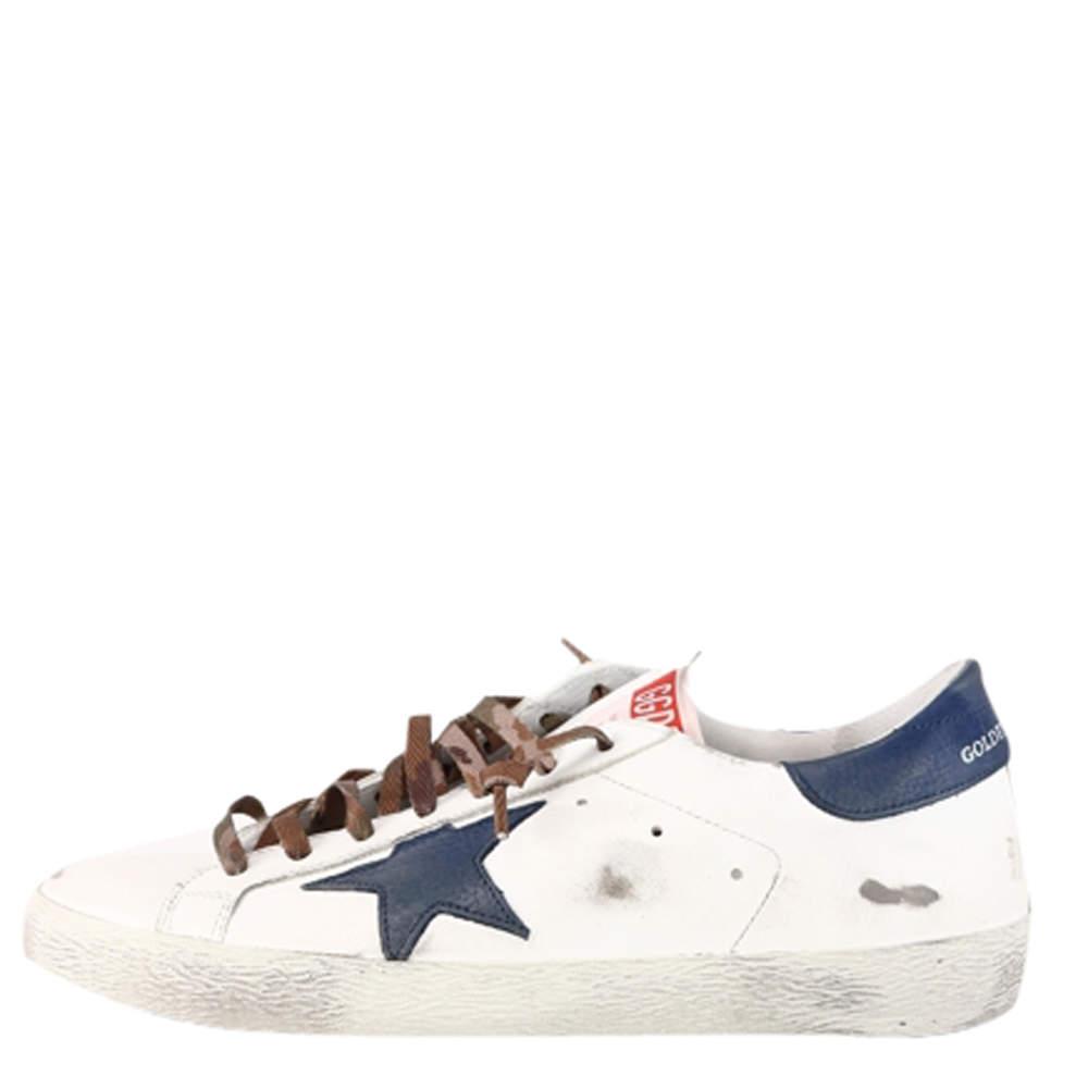 Golden Goose White Super Star Sneaker Size EU 43