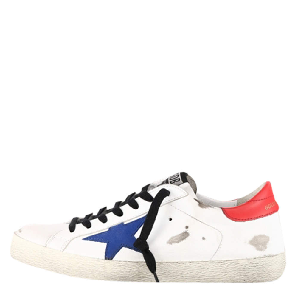 Golden Goose White Super Star Sneaker Size EU 41