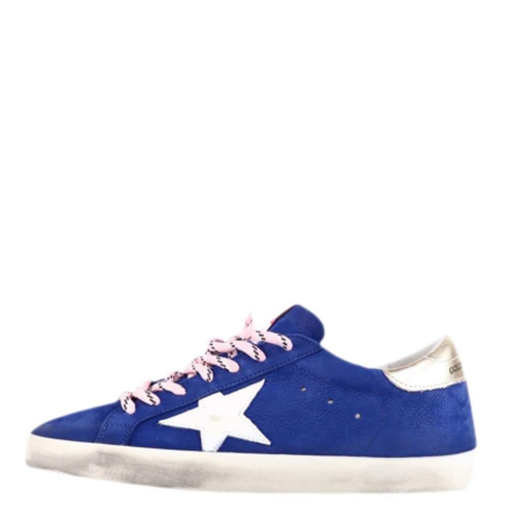 Golden Goose Blue/White Superstar Sneakers Size EU 41