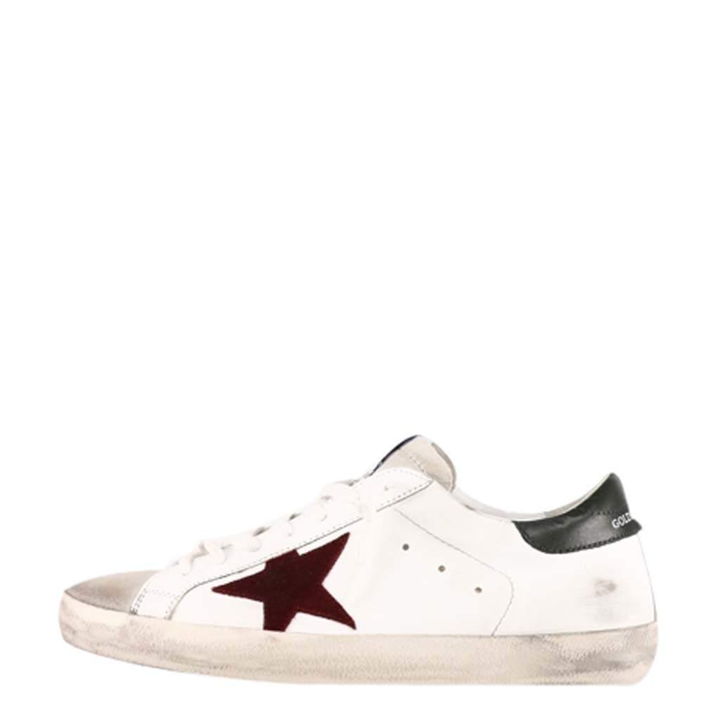 Golden Goose White/Red/Black Super Star Sneaker Size EU  43