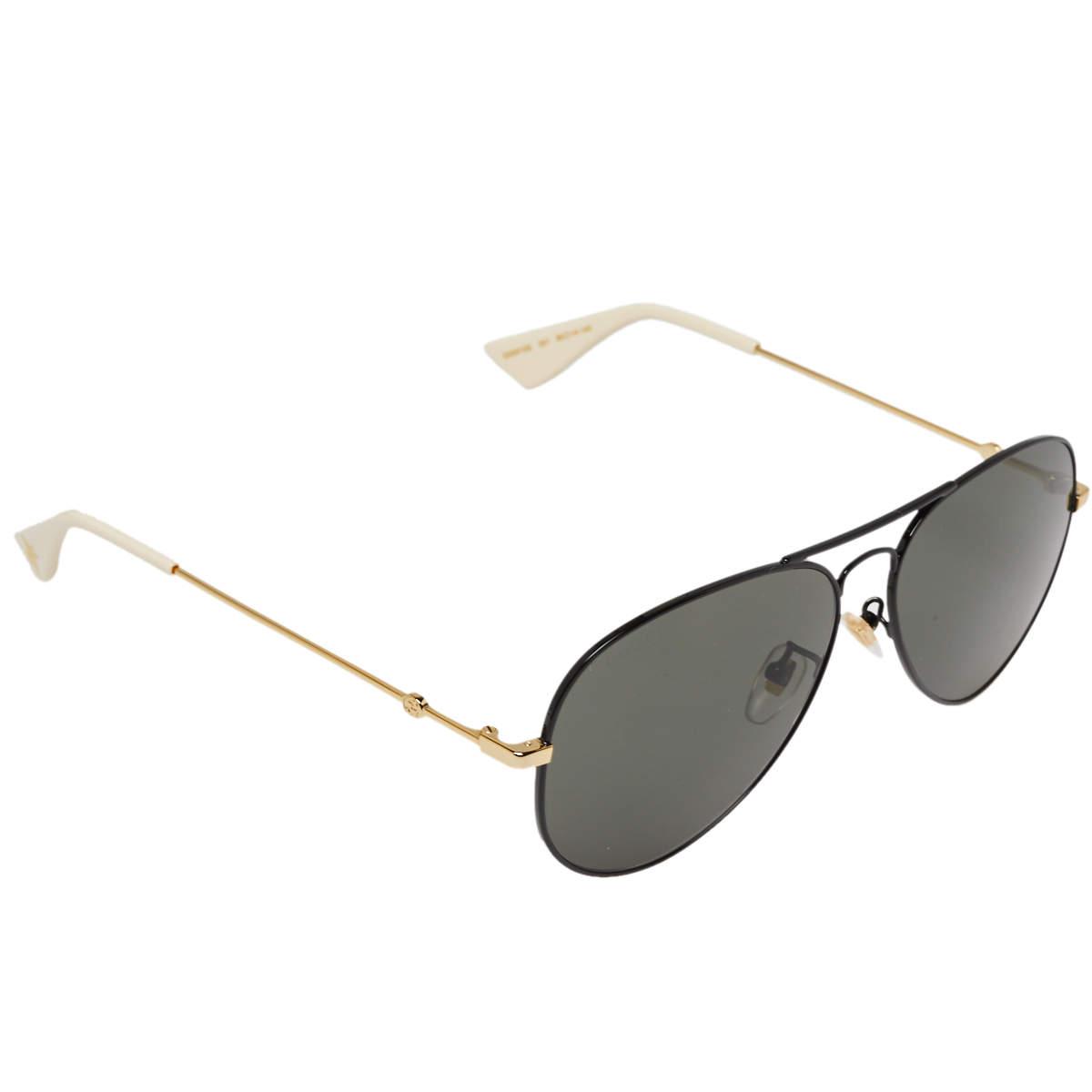 نظارة شمسية غوتشي GG0515S بي أفياتور أسود و ذهبي
