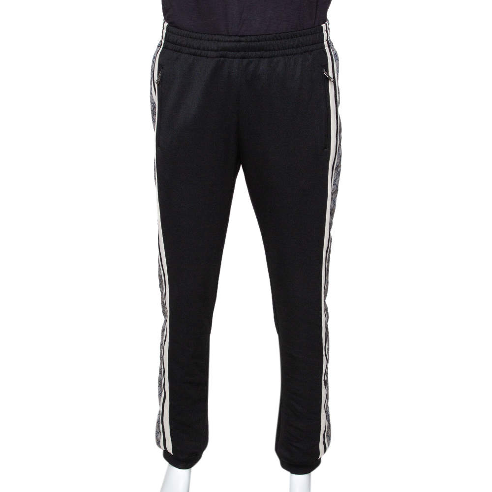 Gucci Black Technical Jersey Guccisima Logo Track Pants M
