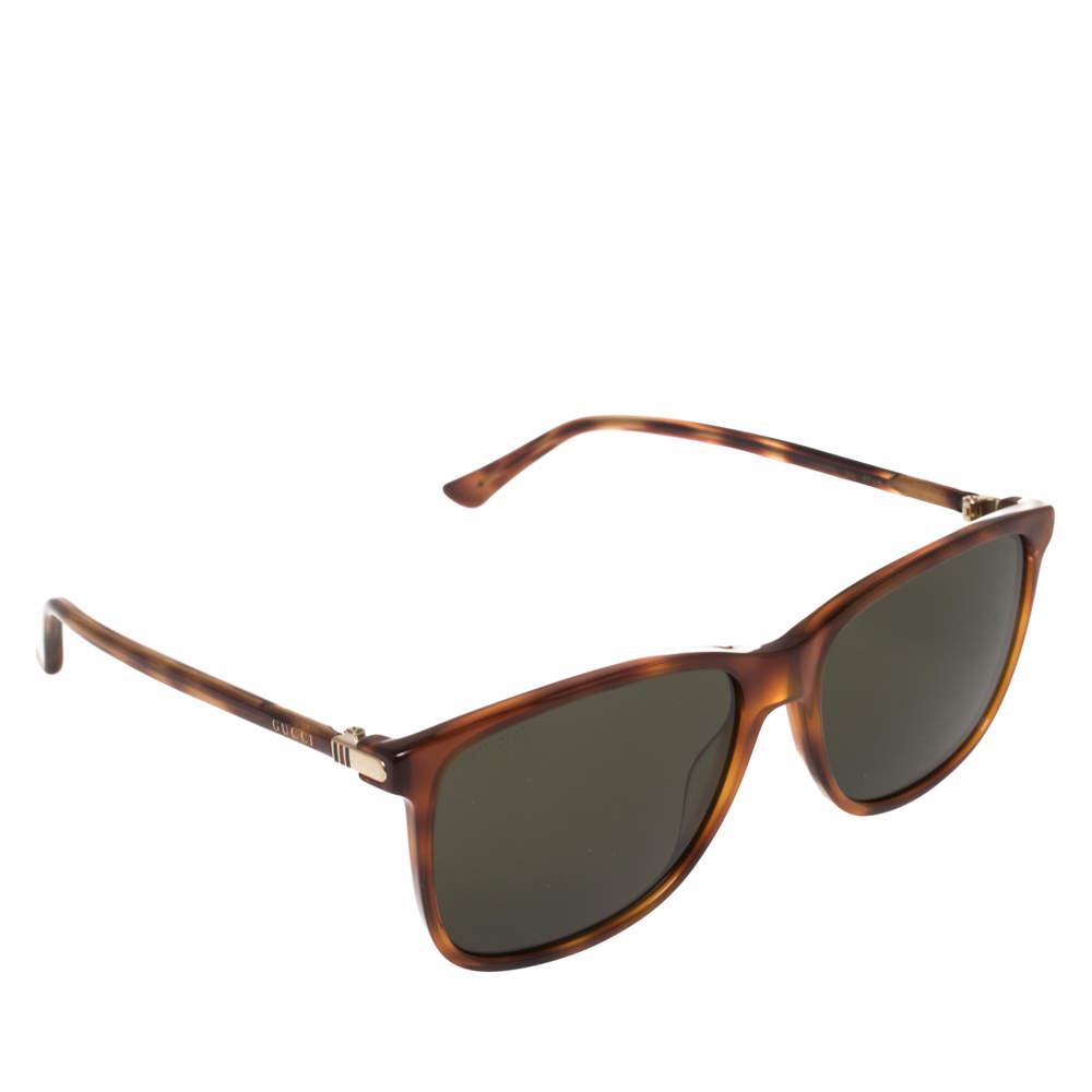 نظارة شمسية غوتشي وايفرار جي جي0017أس تورتواز بني/ اسود