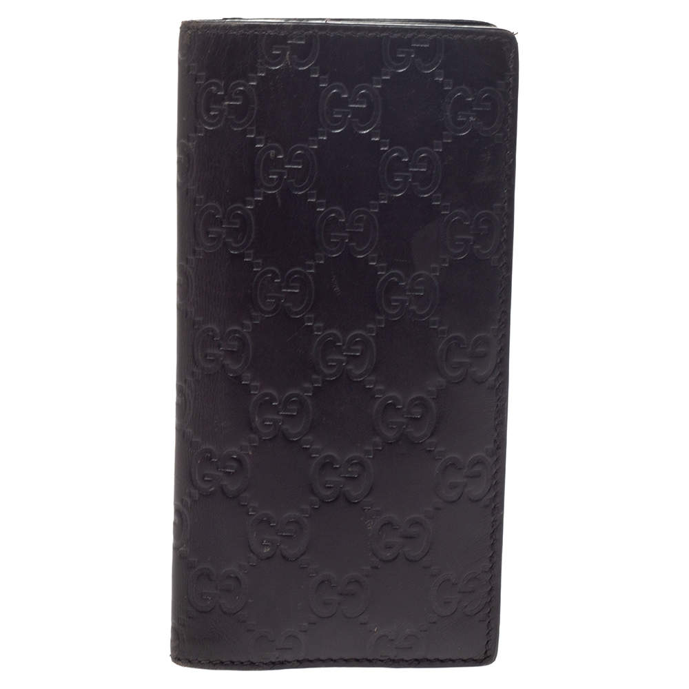 Gucci Brown Guccissima Leather Continental Wallet