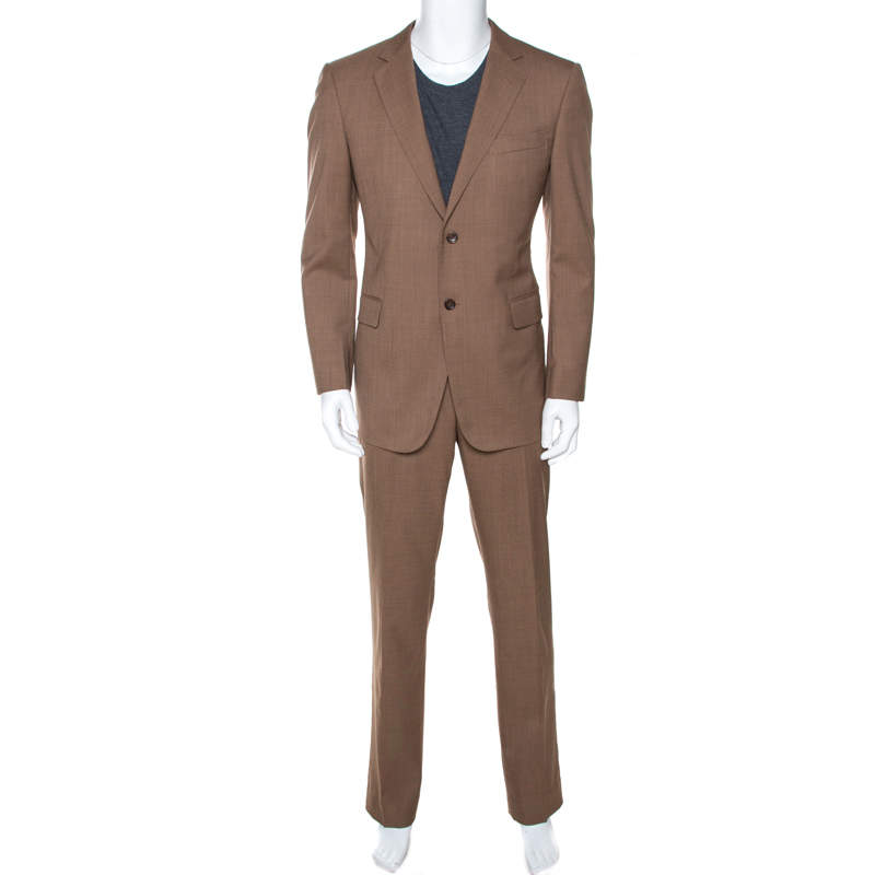 Gucci Brown Wool Tailored Suit XL