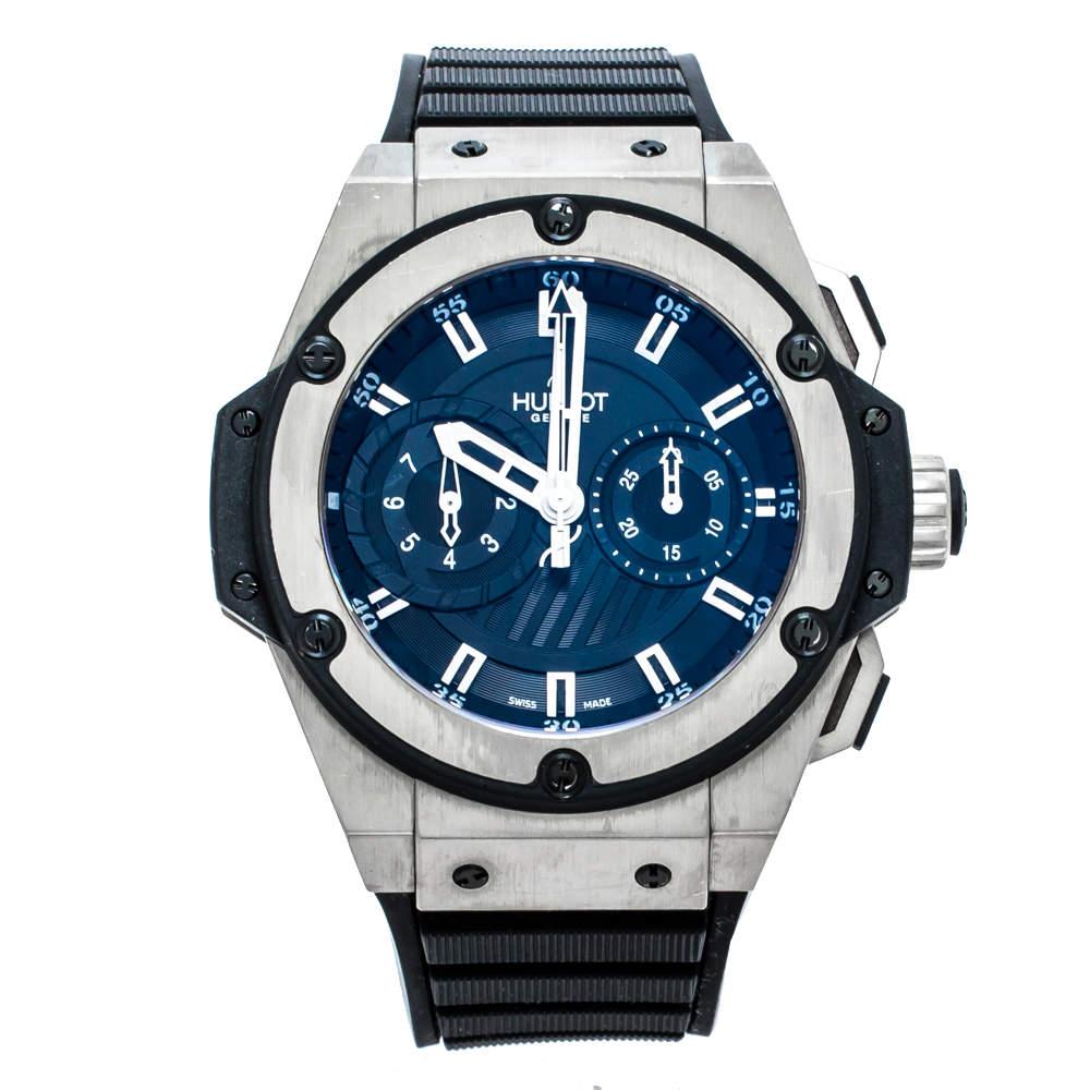 Hublot Black Zirconium Titanium King Power Foudroyante Limited Edition 715.ZX.1127.RX Men's Wristwatch 48 mm
