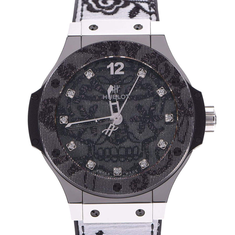 Hublot Black Diamonds Stainless Steel Big Bang 345.SS.6570.NR.BSK16 Men's Wristwatch 41 MM