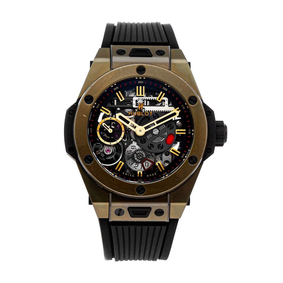 Hublot Black Magic Gold Big Bang Meca-10 Full Magic Gold Limited Edition 414.MX.1138.RX Men's Wristwatch 45 MM