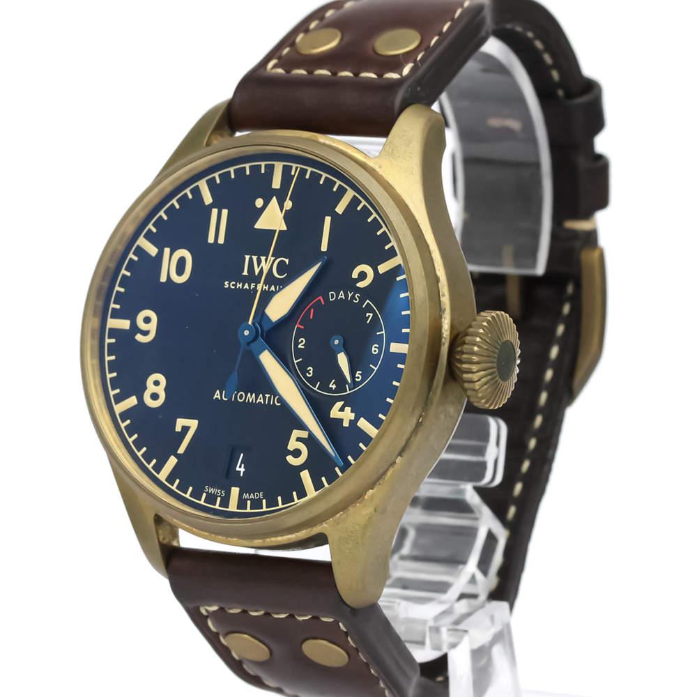 IWC Black Bronze Titanium Big Pilot Heritage Automatic IW501005 Men's Wristwatch 46 MM