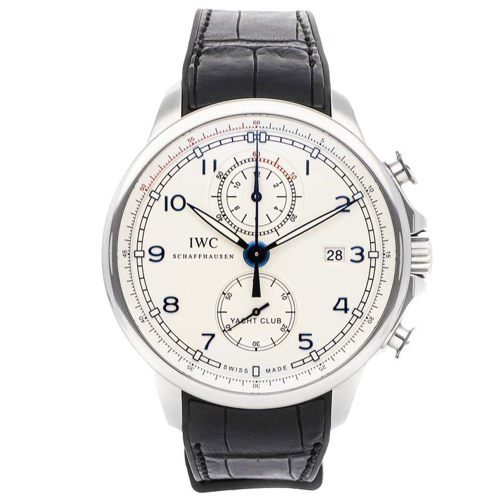 """IWC Silver Stainless Steel Portugieser Yacht Club Chronograph Edition """"Ocean Racer"""" IW3902-16 Men's Wristwatch 45 MM"""
