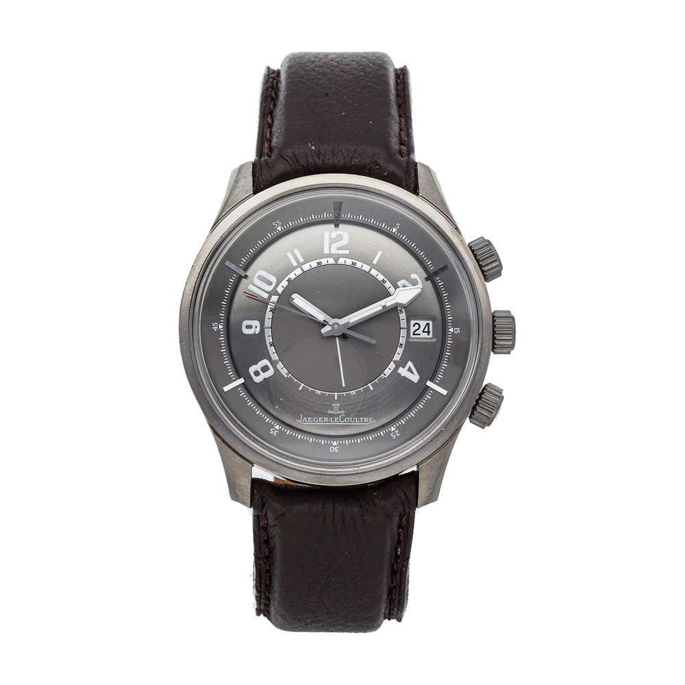 Jaeger LeCoultre Ruthenium Gray Titanium Amvox1 Alarm Aston Martin Limited Edition Q190T440 Men's Wristwatch 41 MM