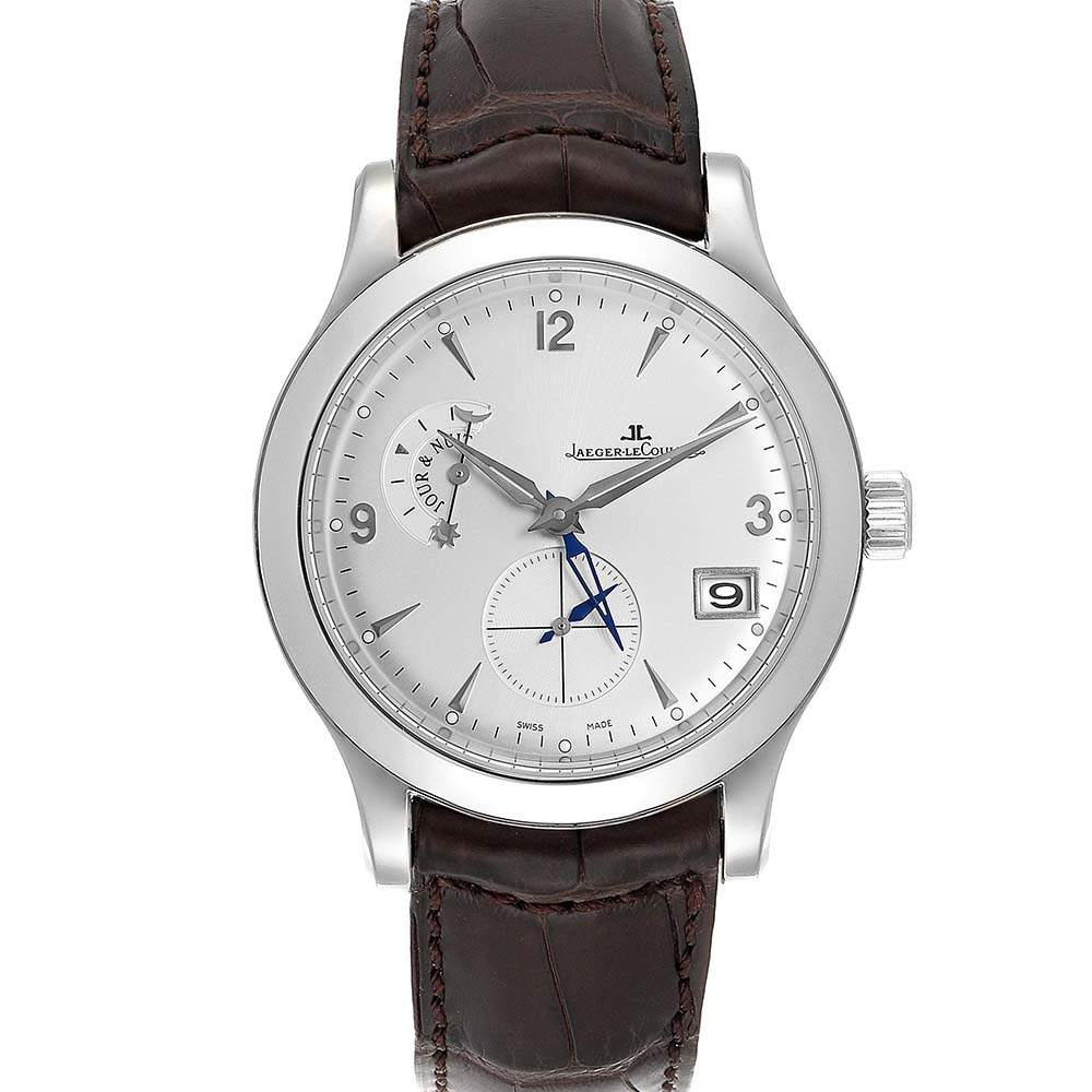 Jaeger Lecoultre Silver Stainless Steel Master Control 147.8.05.S Q1628420 Men's Wristwatch 40 MM