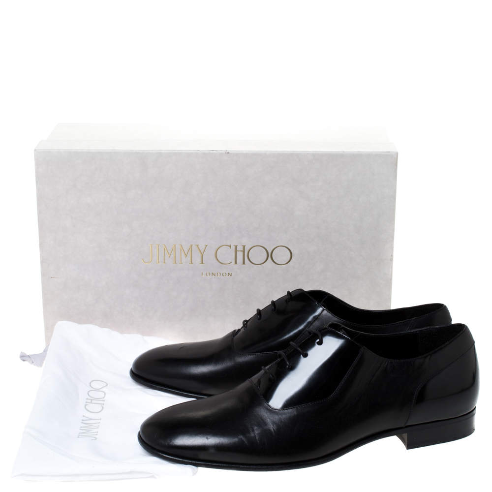 Jimmy Choo Black Leather Tyler Lace Up