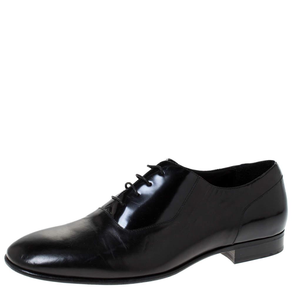 Jimmy Choo Black Leather Tyler Lace Up Shoes Size 44 Jimmy Choo  TLC