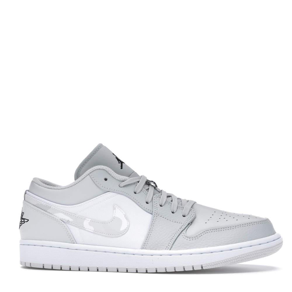 Nike Jordan 1 Low White Camo Sneakers US Size 6.5Y EU Size 39
