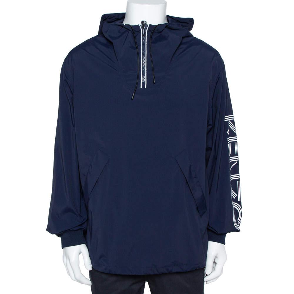 Kenzo Navy Blue Sports Anorak M